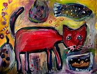 silvia-messerli-Fantasie-Tiere-Land-Moderne-Abstrakte-Kunst-Art-Brut