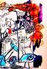 silvia messerli, alte Zeichnung, Fantasie, Abstraktes, Gegenwartskunst