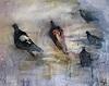 silvia messerli, Tauben, Tiere: Luft, Natur: Luft, Gegenwartskunst