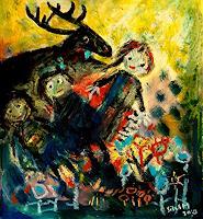 silvia-messerli-Fantasie-Tiere-Moderne-Abstrakte-Kunst-Art-Brut