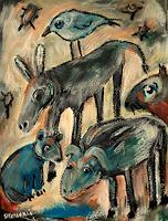 silvia-messerli-Diverse-Tiere-Fantasie-Moderne-Abstrakte-Kunst-Art-Brut