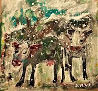 silvia-messerli-Tiere-Land-Natur-Diverse-Moderne-expressiver-Realismus