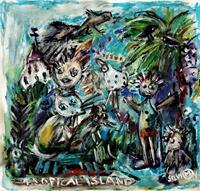 silvia-messerli-Menschen-Gruppe-Landschaft-Sommer-Moderne-Abstrakte-Kunst-Art-Brut