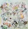 silvia messerli, endlich raus aus dem Haus, Gefühle: Freude, Menschen: Gruppe, Gegenwartskunst, Expressionismus