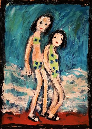 silvia messerli, on aime les flip flops, Diverse Menschen, Natur: Wasser, Gegenwartskunst