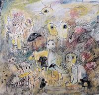 silvia-messerli-Fantasie-Menschen-Familie-Gegenwartskunst-Gegenwartskunst
