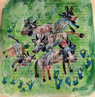 silvia-messerli-Tiere-Land-Natur-Erde-Moderne-Abstrakte-Kunst-Art-Brut