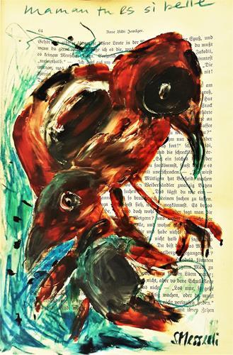 silvia messerli, mama tu es si belle, Tiere: Luft, Natur: Luft, Art Brut, Abstrakter Expressionismus