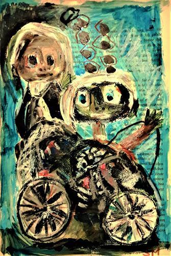 silvia messerli, unterwegs mit Wisa Gloria, Menschen: Gruppe, Diverse Menschen, Art Brut, Abstrakter Expressionismus