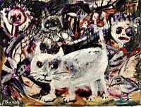 silvia-messerli-Gefuehle-Aggression-Tiere-Land-Moderne-Abstrakte-Kunst-Art-Brut