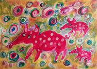 silvia-messerli-Tiere-Land-Diverse-Gefuehle-Moderne-Abstrakte-Kunst-Art-Brut