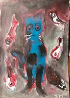 silvia-messerli-Tiere-Land-Humor-Moderne-Abstrakte-Kunst-Art-Brut