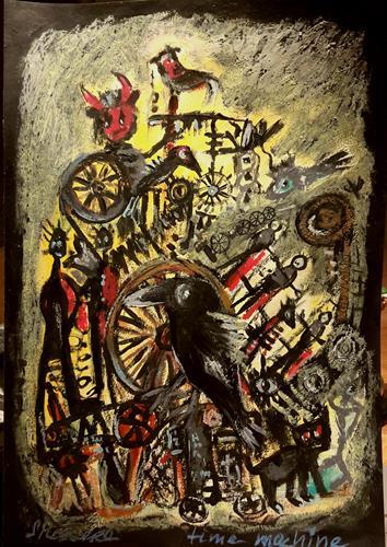 silvia messerli, time machine, Diverse Gefühle, Fantasie, Gegenwartskunst, Abstrakter Expressionismus
