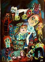 silvia-messerli-Fantasie-Gefuehle-Freude-Moderne-Abstrakte-Kunst-Art-Brut