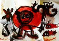 silvia-messerli-Diverse-Gefuehle-Menschen-Frau-Moderne-Abstrakte-Kunst-Art-Brut