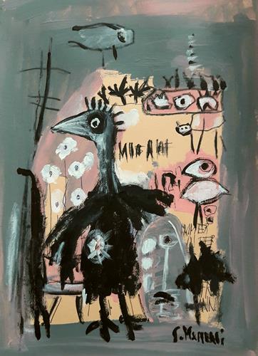 silvia messerli, :-), Tiere: Luft, Fantasie, Art Brut, Abstrakter Expressionismus