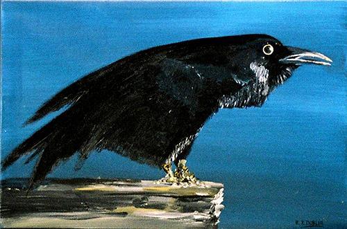 K. P. Dobler, Rabe, Tiere: Luft, Gegenwartskunst, Expressionismus