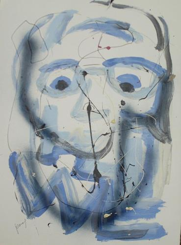 jamart, portrait mon beaufrère, Menschen: Porträt, Art Brut