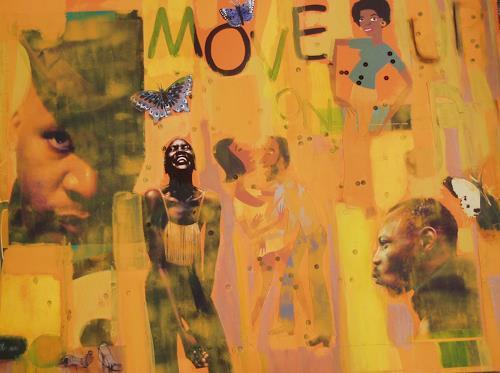 bia, MOVE ON UP, Dekoratives, Musik: Musiker, Pop-Art, Abstrakter Expressionismus
