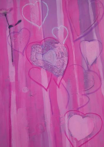 bia, COEUR CASSATA, Dekoratives, Gefühle: Liebe, Abstrakte Kunst