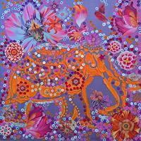 bia-Fantasie-Tiere-Land-Moderne-Abstrakte-Kunst