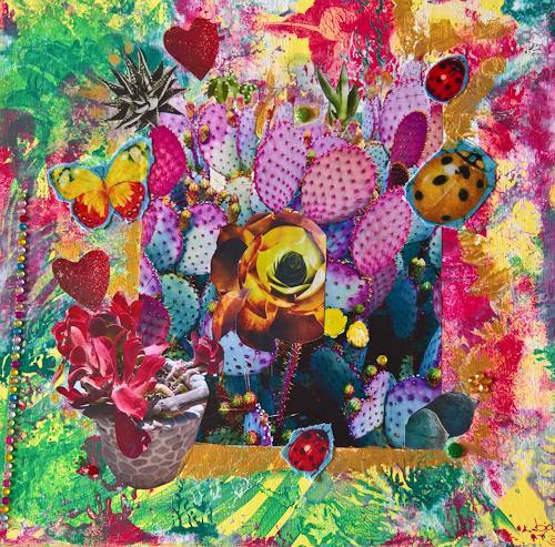 bia, GIARDINO RAVINO, Diverse Pflanzen, Fantasie, Abstrakte Kunst, Abstrakter Expressionismus