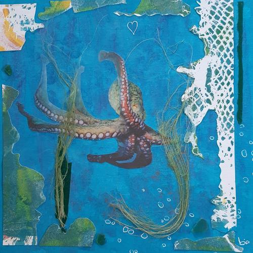bia, POLPO FICTION, Tiere: Wasser, Skurril, Abstrakte Kunst, Expressionismus