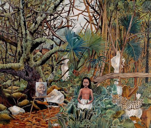 dominique hoffer, LA CONSTANCE DES ALIZEES, Fantasie, Abstrakte Kunst
