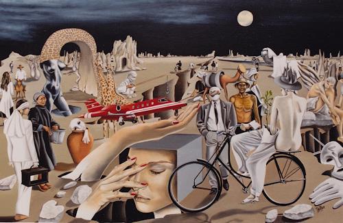dominique hoffer, LANDING, Fantasie, Gegenwartskunst, Expressionismus