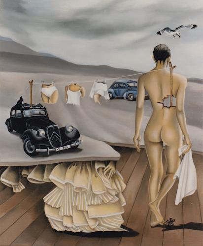 dominique hoffer, LA GRANDE LESSIVE, Fantasie, Gegenwartskunst, Abstrakter Expressionismus