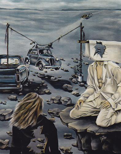 dominique hoffer, LE SILENCE DE L'IGUANE, Fantasie, Gegenwartskunst, Abstrakter Expressionismus