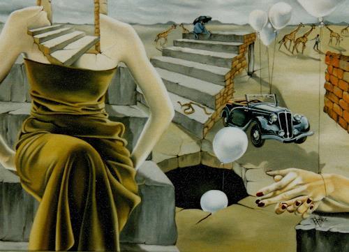 dominique hoffer, UN ORAL DE RATTRAPAGE, Fantasie, Gegenwartskunst, Abstrakter Expressionismus