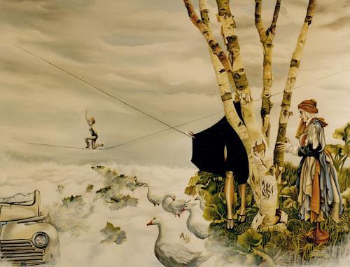 dominique hoffer, JOUR DE MARCHE, Fantasie, Gegenwartskunst
