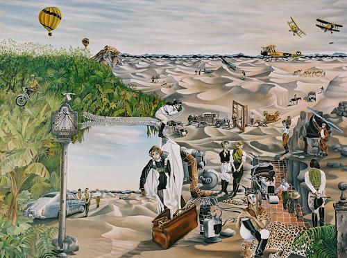 dominique hoffer, LA CROISIERE JAUNE, Fantasie, Gegenwartskunst, Abstrakter Expressionismus