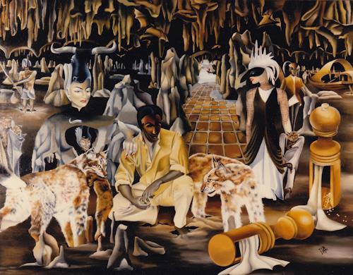 dominique hoffer, LE SORTILEGE DES POIVRIERS, Fantasie, Gegenwartskunst, Abstrakter Expressionismus