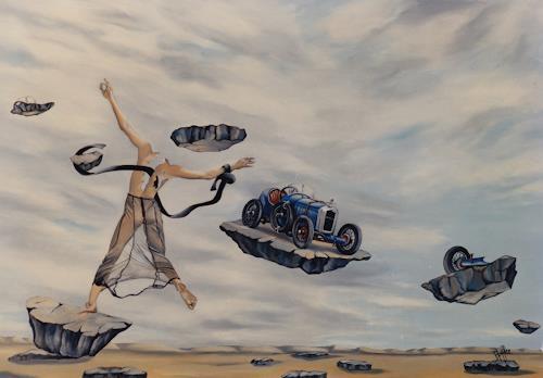dominique hoffer, LA DEBRIDEE CARROSSABLE, Fantasie, Gegenwartskunst, Abstrakter Expressionismus