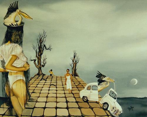 dominique hoffer, LE SUREAU ET LA CIGUE, Fantasie, Gegenwartskunst, Abstrakter Expressionismus