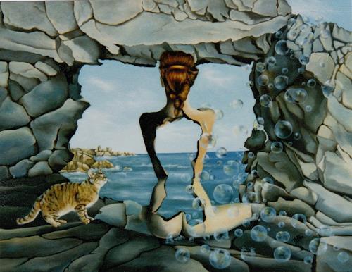 dominique hoffer, LA MEMOIRE S'AMENUISE, Fantasie, Gegenwartskunst