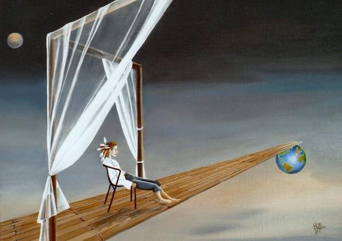 dominique hoffer, SOL EN SI O DE LA, Fantasie, Diverses, Gegenwartskunst, Expressionismus