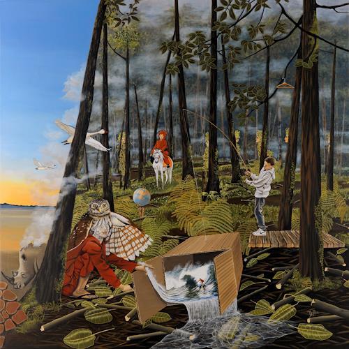 dominique hoffer, Le Chant de l'Alouette, Fantasie, Gegenwartskunst, Abstrakter Expressionismus