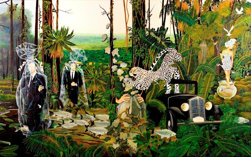 dominique hoffer, L'hypnotique ritournelle des apparences, Fantasie, Gegenwartskunst, Abstrakter Expressionismus