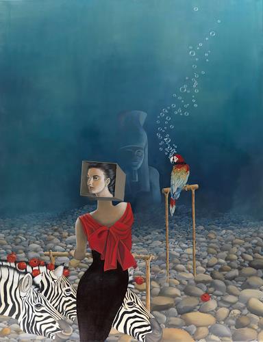 dominique hoffer, Au Vivier des Illusions Versatiles, Fantasie, Postsurrealismus, Abstrakter Expressionismus