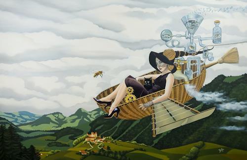 dominique hoffer, L'Ecume des Rumeurs, Fantasie, Gegenwartskunst, Abstrakter Expressionismus