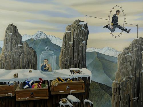 dominique hoffer, Les Cliquetis du Hasard, Fantasie, Gegenwartskunst, Abstrakter Expressionismus