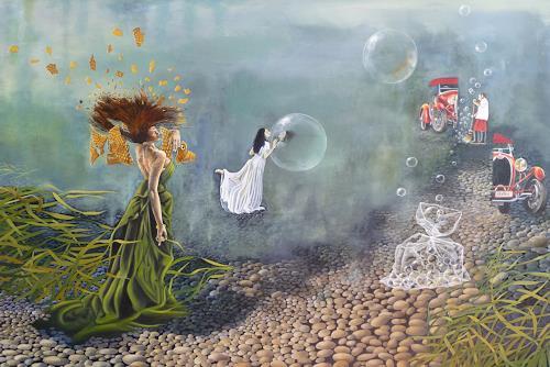 dominique hoffer, Sous les ailes froissées des papillons, Fantasie, Gegenwartskunst, Expressionismus