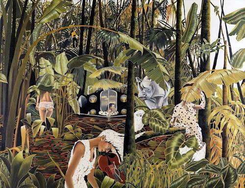 dominique hoffer, La Fabuleuse Insomnie des Manguiers à Plumes, Märchen, Gegenwartskunst, Abstrakter Expressionismus