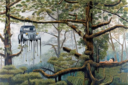 dominique hoffer, L'exil décalé, Fantasie, Gegenwartskunst, Abstrakter Expressionismus