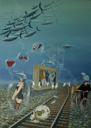dominique hoffer, La Mémoire de l'Eau, Fantasie, Postsurrealismus, Abstrakter Expressionismus