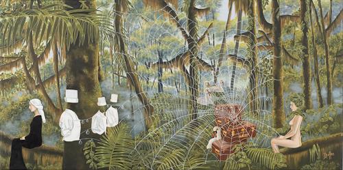dominique hoffer, Le Naufrage des Petites Heures, Fantasie, Gegenwartskunst, Expressionismus