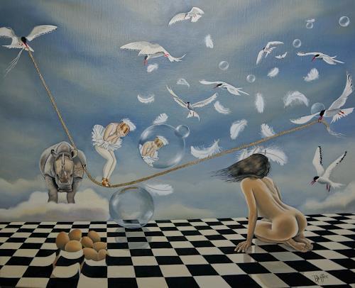 dominique hoffer, Le Choix du Destin, Fantasie, Abstrakte Kunst, Abstrakter Expressionismus